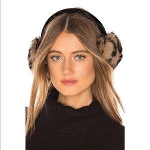 Hatattack**Luxe Rabbit Earmuffs in Leopard $65